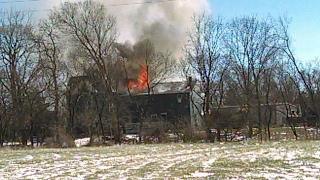 Chimney Fire Destroys Home on Columbus Ave