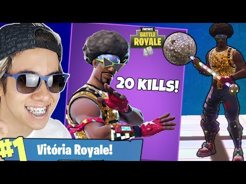 COMPREI A SKIN BALADEIRO DO BLACK POWER E MATAMOS 20! Fortnite Battle Royale