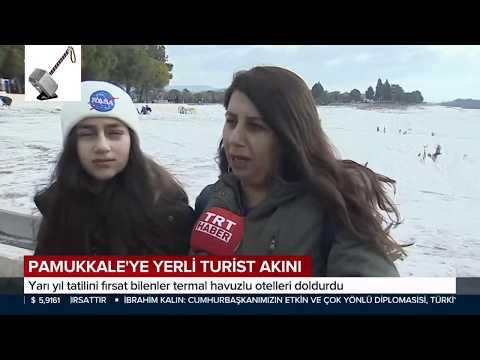 Pamukkale'ye Yerli Turist Akını / Yarı Yıl Tatili Termal Otelleri Doldurdu 20.01.2020