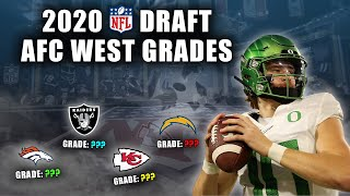 2020 NFL Draft Grades | All 7-Rounds | AFC West | The Broncos Hype Train Has Left The Station!