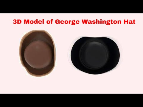 3D Model of George Washington Hat Review - YouTube