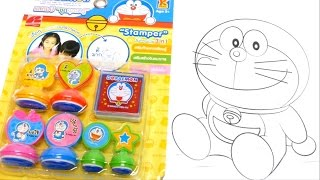 Doraemon (ドラえもん) Stamper Inkpad & Card Set Playset for School