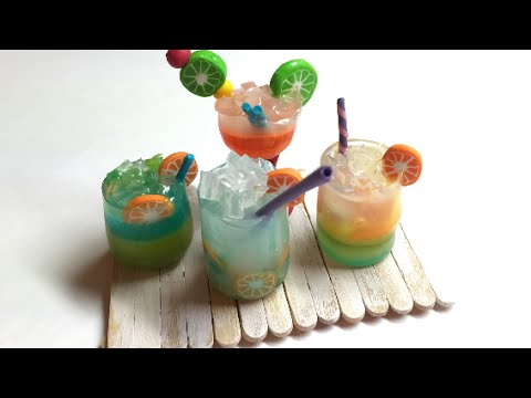 COCKTAIL- Polymer clay (Fimo) miniatures -Tutorial