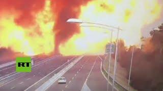 FUERTES IMÁGENES: Momento exacto de la enorme explosión en Bolonia