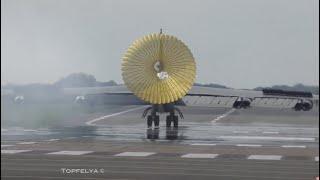Boeing B-52 Stratofortress Bomber impressive take-off flypast and Landing