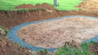 Semi-Inground Pool Installation