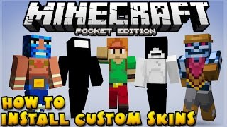 how to install custom skins simple step by step tutorial minecraft pe pocket edition
