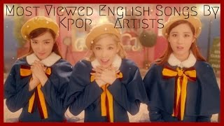 top 25 most viewed english songs by kpop artists