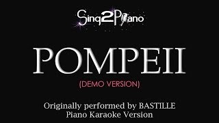 Pompeii (Piano Karaoke Version) Bastille