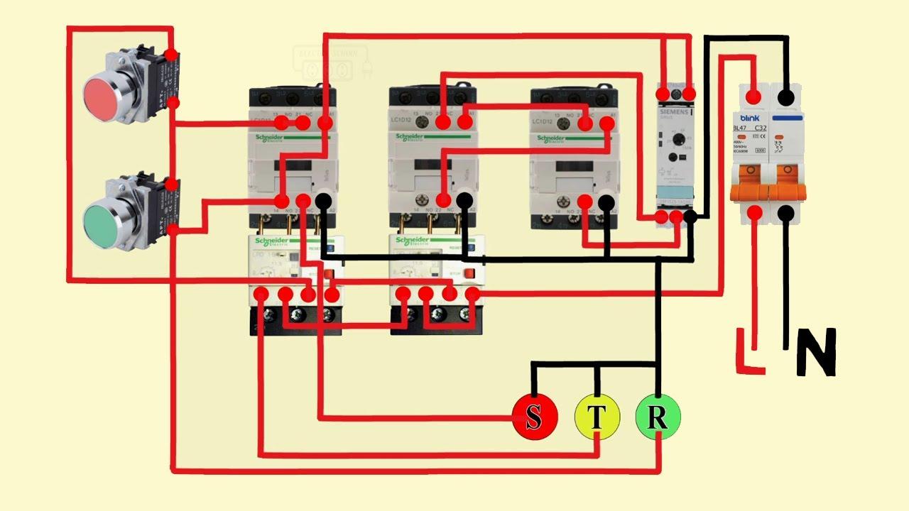 star delta starter control wiring diagram - YouTube | Wiring Diagram Star Delta Pdf |  | YouTube
