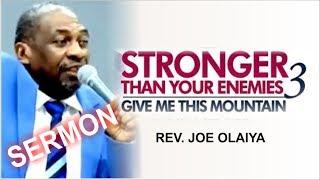 Rev Joe Olaiya Sermon  RCCG March 2018 HOLY GHOST SERVICE