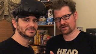 playing rick morty vr with justin roiland