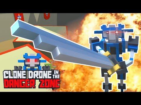 ØDELÆGGER ROBOTTER! // Clone Drone in the Danger Zone Dansk #1