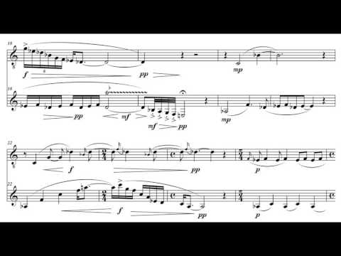 """Moment"" (bass flute and bass clarinet), by David Bennett Thomas"