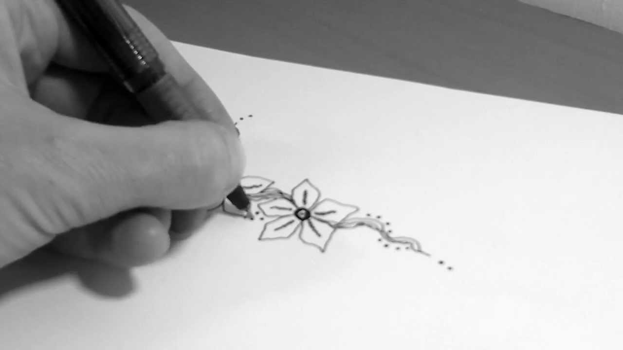 Small Drawings: How To Draw Small Flowers Tattoo 4