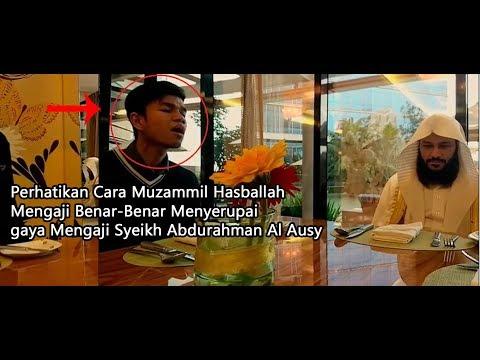 MasyaAllah!!! Thus says Muzammil Sheikh Hasbullah reading style Mimicked Abdurrahman Al Ausy