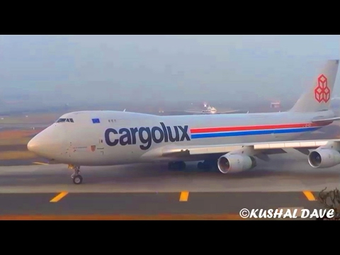 Plane Spotting- 42 HEAVY Cargo Flight Landing & Takeoff at Mumbai Airport.