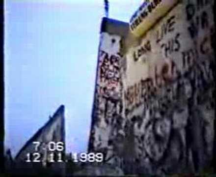 Berlin wall fall @ Potsdamer  Platz 1989 in Berlin