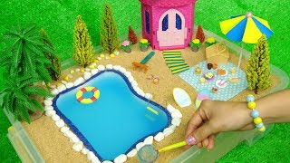 DIY Building Swimming Pool for Barbie