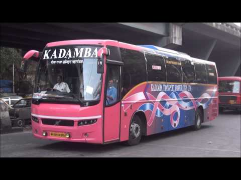 Attractive Volvo Bus B7R of Goa Tourism Corportation Running Between Mumbai & Goa