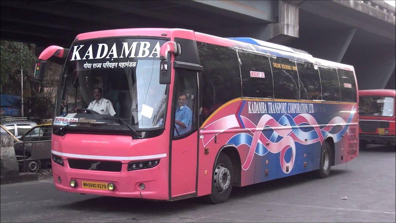 Attractive Volvo Bus B7R Of Goa Tourism Corportation Running Between Mumbai