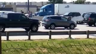 Accidente de auto por alta velocidad en autopista