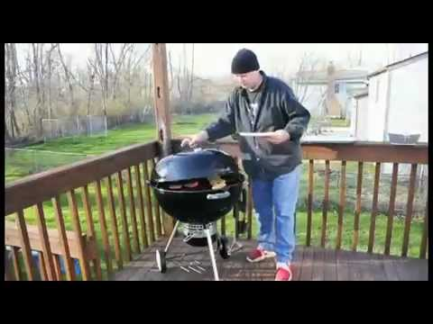 Weber Holzkohlegrill One Touch : Weber one touch gold portable charcoal grill mp youtube