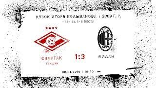 """Спартак"" (2009 г. р.) - ""Милан"" 1:3"