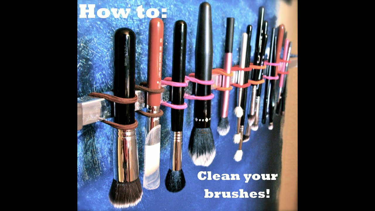 How to clean (and dry!) your makeup brushes!
