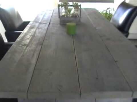 Steigerhout tafel original greywash 200 x 80 gratis bezorgd in