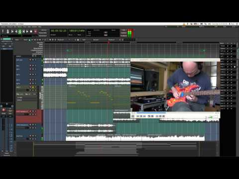 Stellah Headless Kit guitar, Ardour DAW Linux