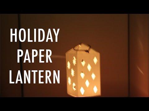 DIY Holiday Paper Lantern