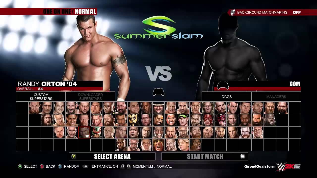 WWE 2K15 Full Roster & Ratings - 112.5KB