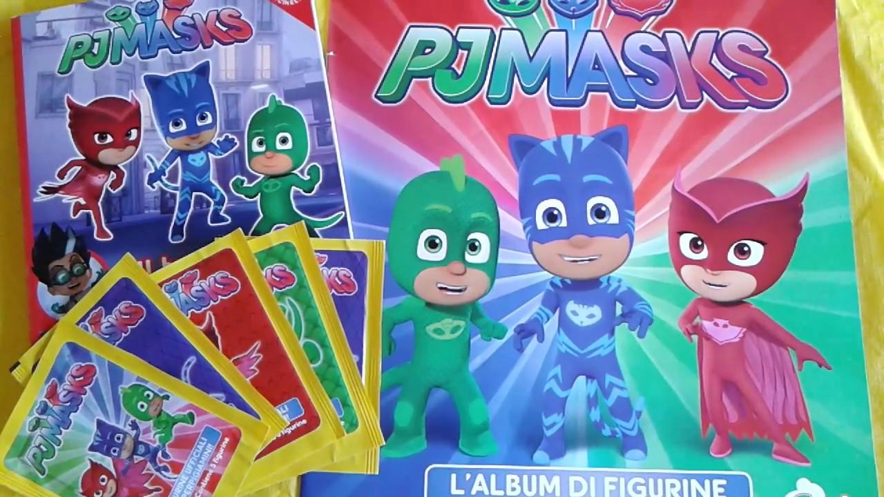 Pj Masks Spacchettiamo Album Di Figurine E Libro Video Adatto Ai