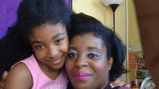 MA FILLE ME MAQUILLE !!! // MY DAUGHTER DOES MY MAKE UP
