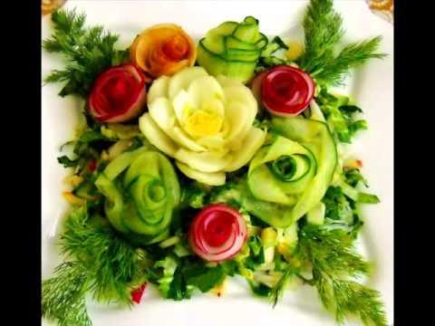Разнообразные украшения для салатов