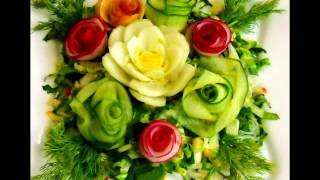 Украшение салатов к празднику 1