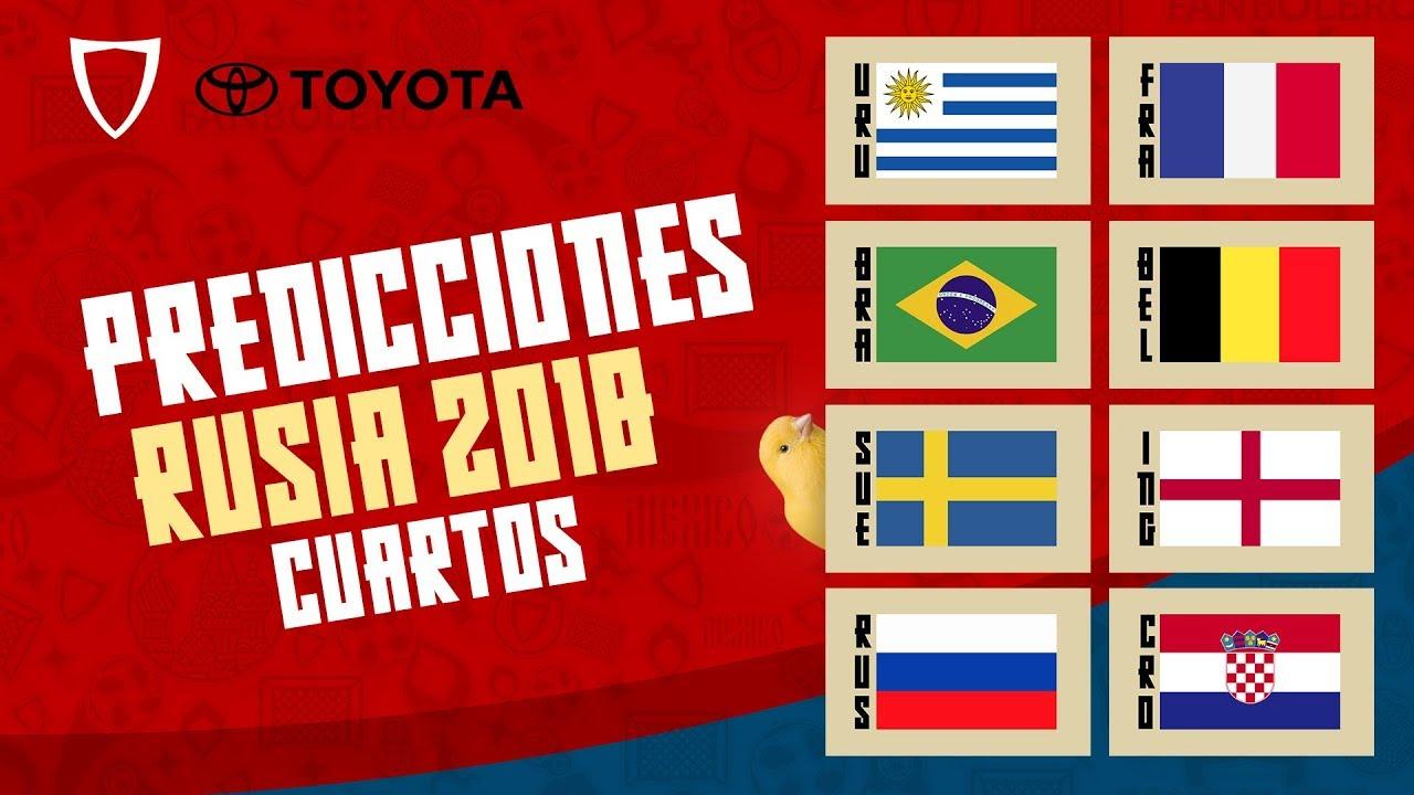 🏆 Predicciones Mundial Rusia 2018 - Quiniela Mundial // Cuartos ...