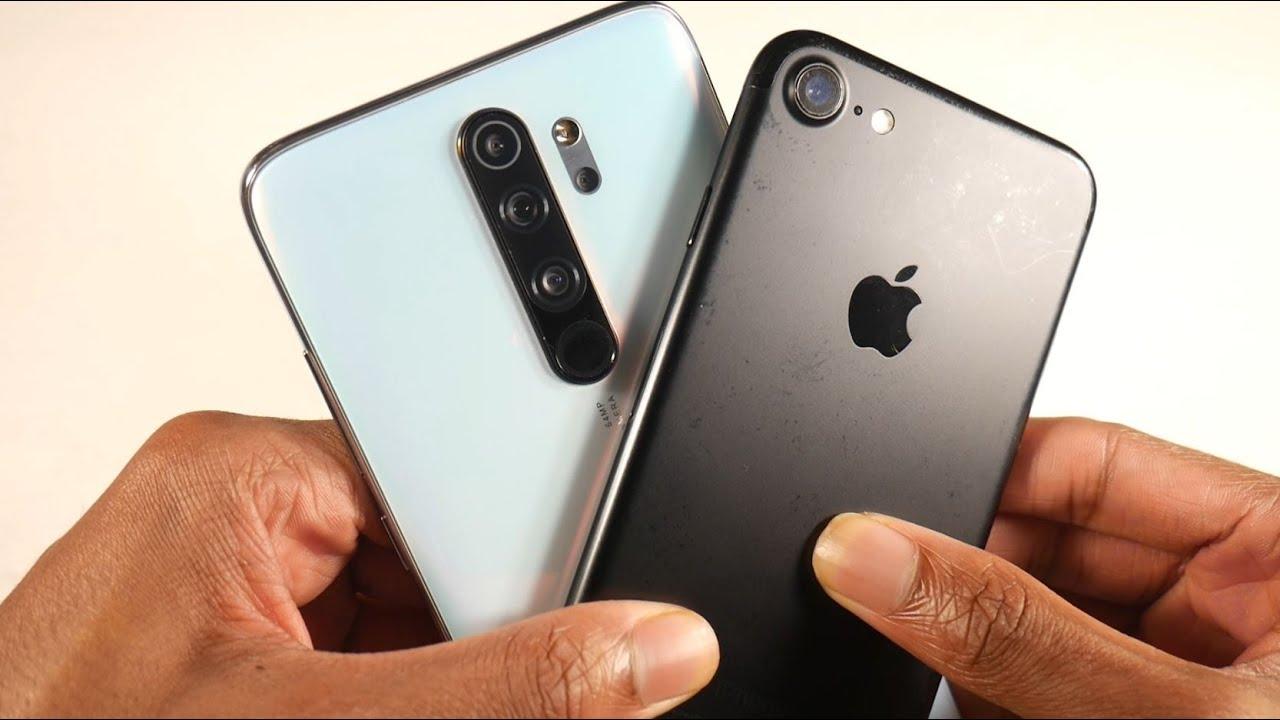 iphone 7 vs xiaomi redmi note 8 pro cameras specs hardware
