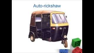 Transport for kids, Land Transportation for children , preschool flash cards - Video for kids