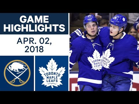 NHL Game Highlights | Sabres vs. Maple Leafs - Apr. 02, 2018