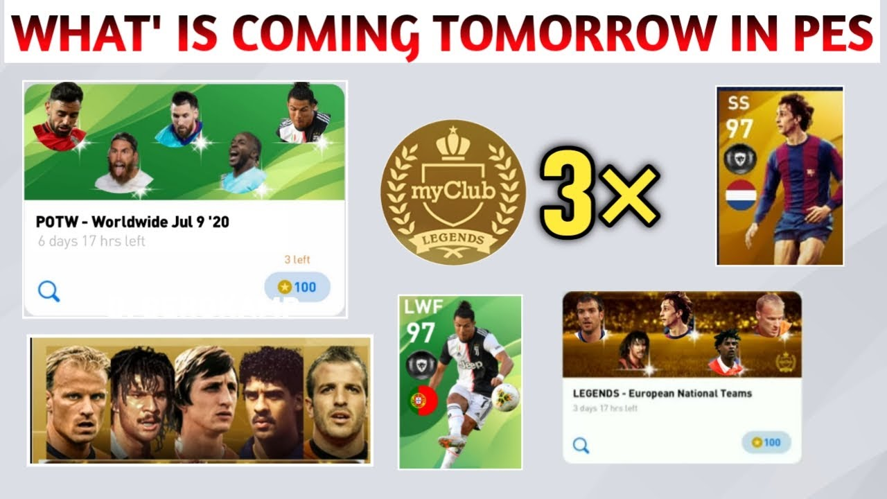 WHAT IS COMING TOMORROW & FRIDAY | REWARDS & EVENTS | PES 2020 | PES MAMA YOU TUBE