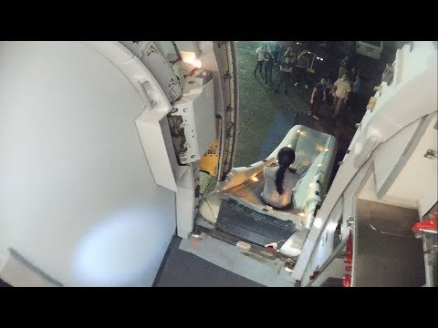 Emergency Landing Airbus A320! Escape slide deployment