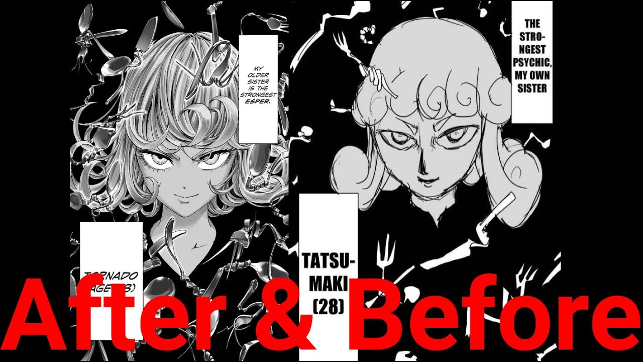 One Punch Man Art Comparison Part 4 Murata Illustration One Original Youtube