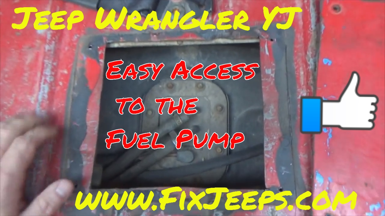 Jeep Wrangler YJ  Fuel Pump Access panel mod  YouTube