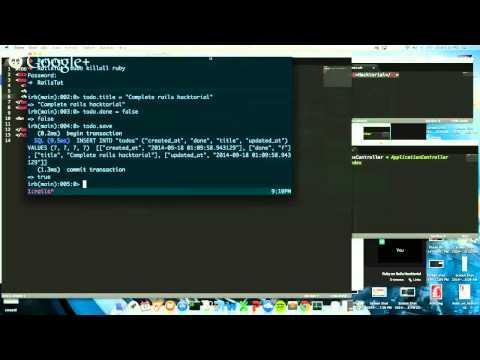 Ruby on Rails Hacktorial