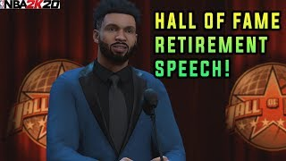NBA 2K20 What happens when you retire your MyPlayer from mycareer!? you wont believe what happened!