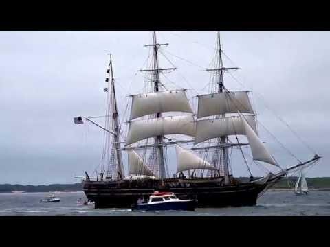 Charles W. Morgan whaleship under sail