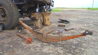 108,109-Д.(2С.).Демонтаж і розбирання пакета ресор МАЗа.Ремонт Т-150К.[Not GoPro]