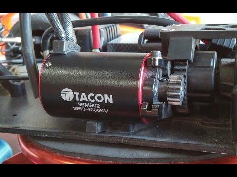 Tacon 4 pole sensored brushless motor comparison and test